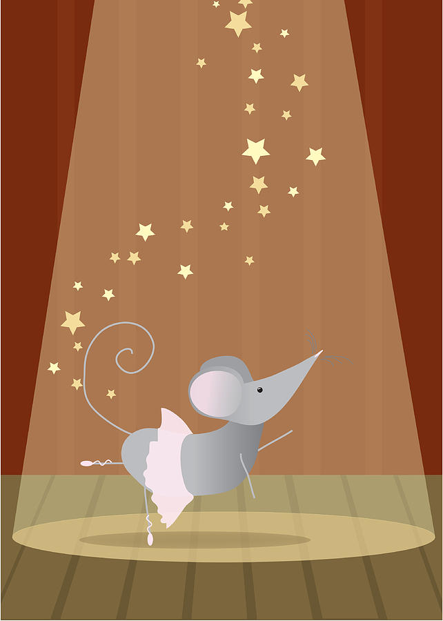 Ballet Mouse Nursery Art Girl Digital Art  - Ballet Mouse Nursery Art Girl Fine Art Print
