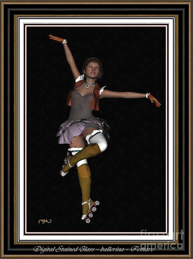Modern Painting  Painting - Ballet On Skates 1bos2 by Pemaro