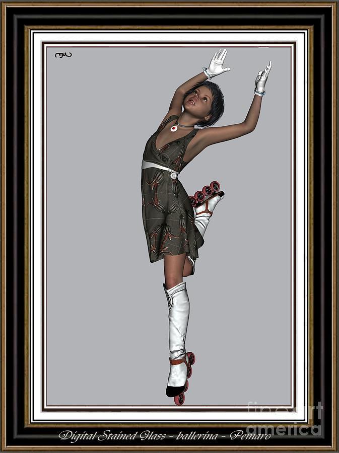 Modern Painting  Painting - Ballet On Skates 2bos2 by Pemaro