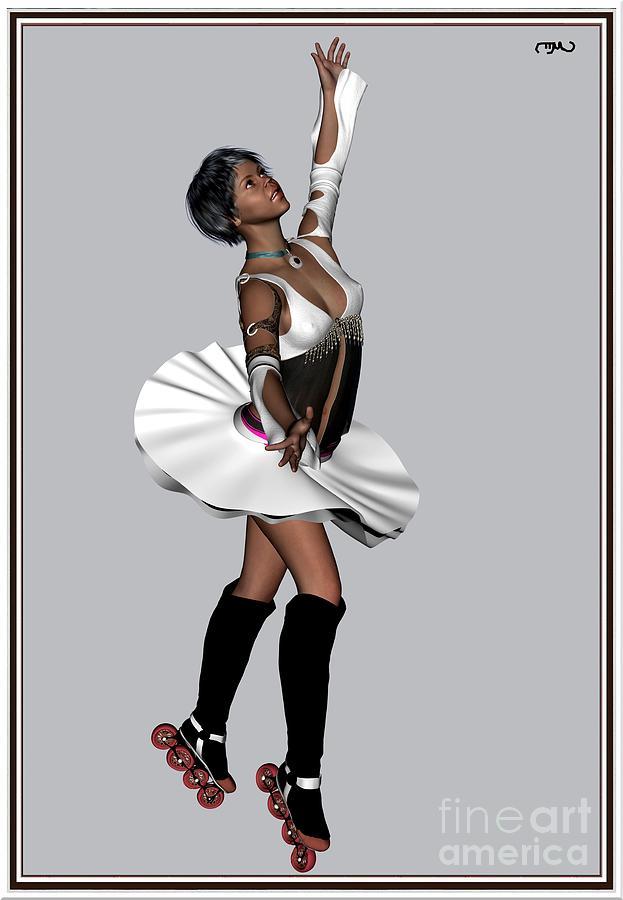 Modern Painting  Painting - Ballet On Skates 4bos1 by Pemaro