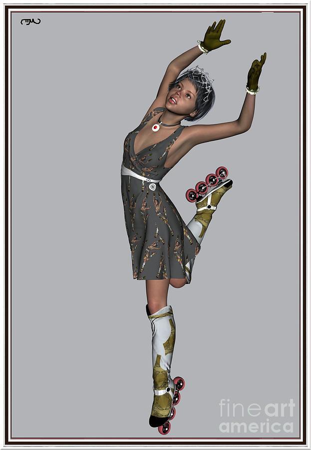 Modern Painting  Painting - Ballet On Skates 6bos1 by Pemaro