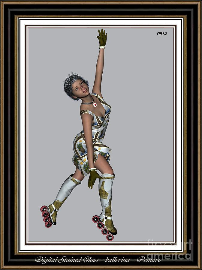 Modern Painting  Painting - Ballet On Skates 7bos2 by Pemaro