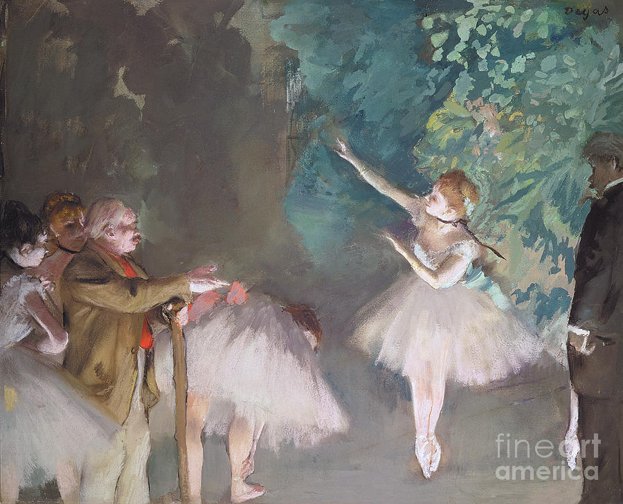 Dance Painting - Ballet Rehearsal by Edgar Degas