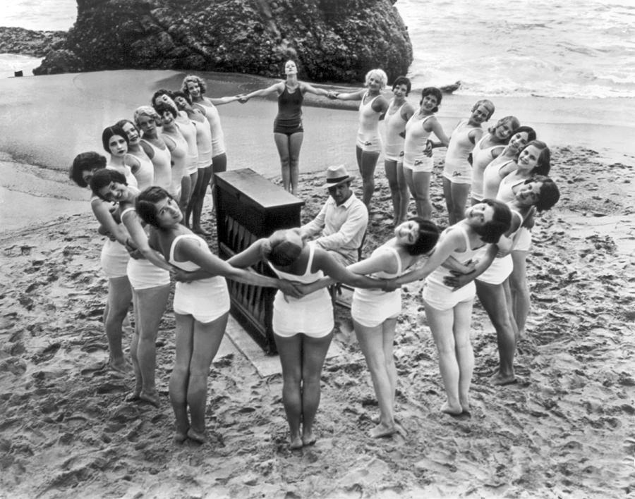 Ballet Rehearsal On The Beach Photograph