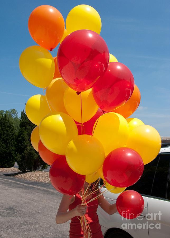Balloons Photograph - Balloon Girl by Ann Horn