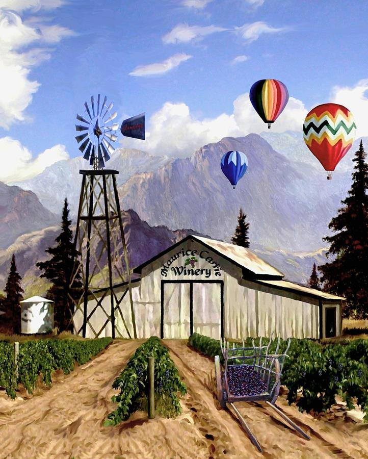 Balloons Over The Winery II Digital Art