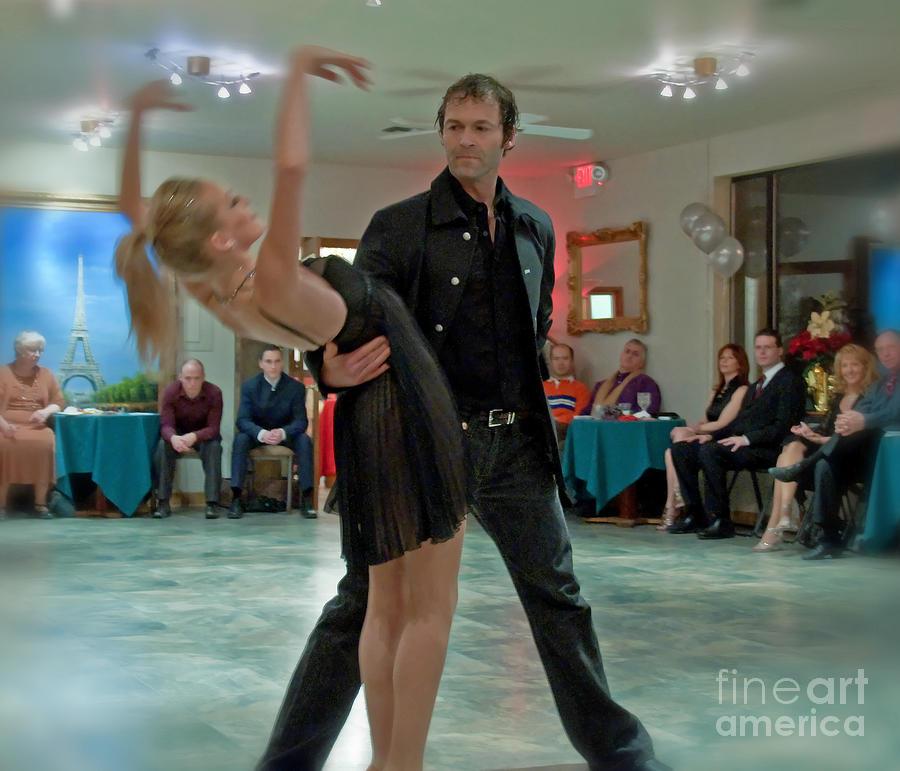 Arch Photograph - Ballroom Dancers by Valerie Garner