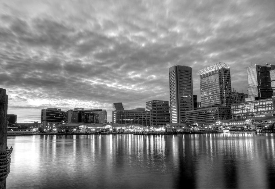 Baltimore In Black And White Photograph