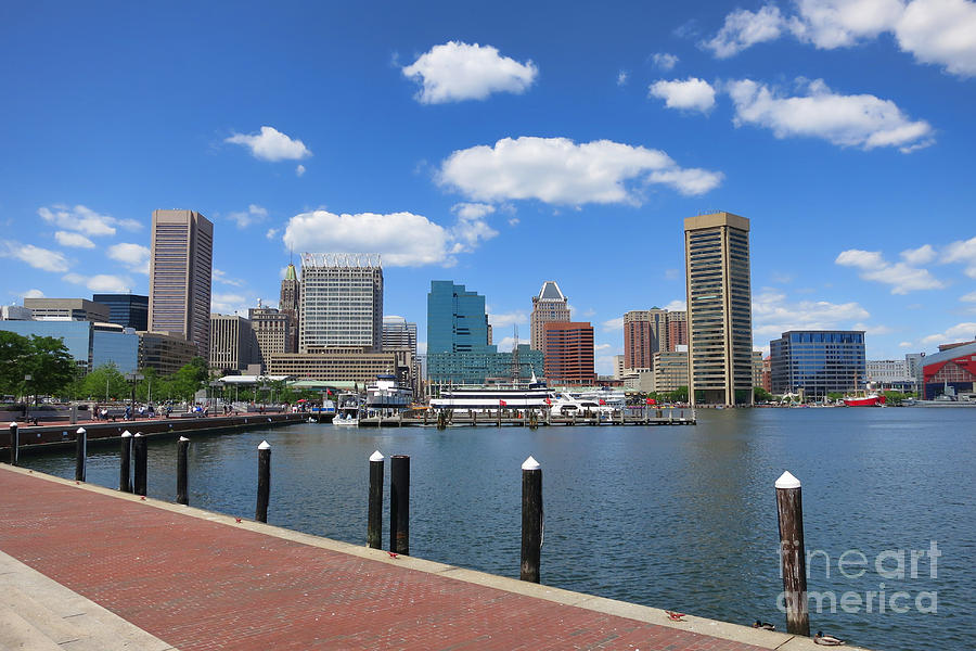 Baltimore Photograph - Baltimore Inner Harbor by Olivier Le Queinec
