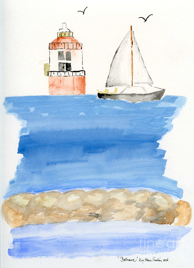 Baltimore Lighthouse Painting  - Baltimore Lighthouse Fine Art Print