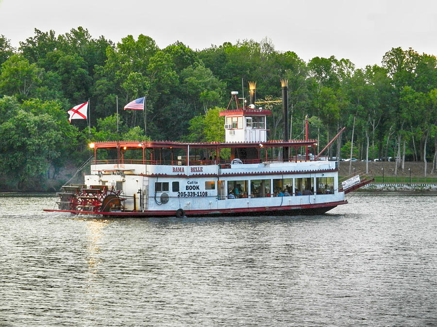 Bama Belle On The Black Warrior River Photograph  - Bama Belle On The Black Warrior River Fine Art Print