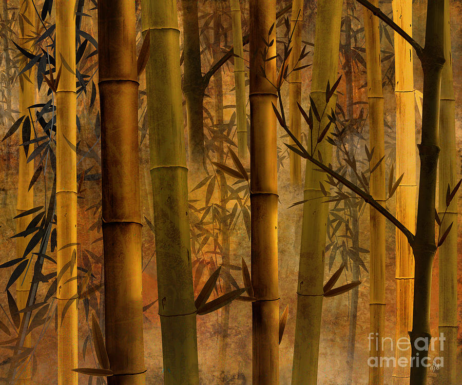 Bamboo Heaven Digital Art  - Bamboo Heaven Fine Art Print
