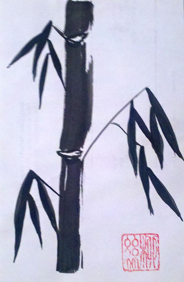 Bamboo In Black And White by Margaret Welsh Willowsilk