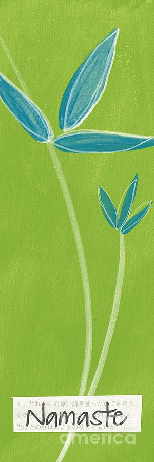 Namaste Painting - Bamboo Namaste by Linda Woods