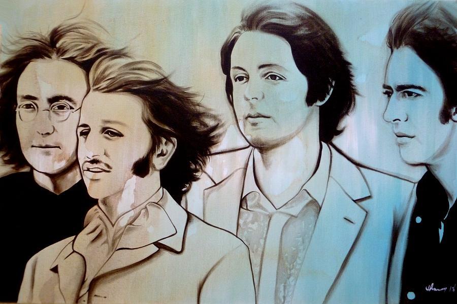 Beatles Drawings Painting - Band Of Brothers by Joo Chung