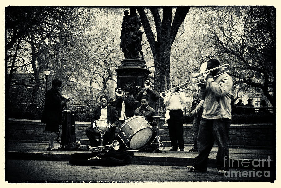 Band On Union Square New York City Photograph  - Band On Union Square New York City Fine Art Print