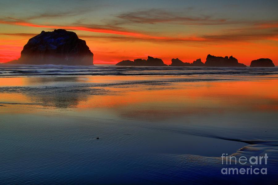Bandon Foggy Fire Photograph  - Bandon Foggy Fire Fine Art Print