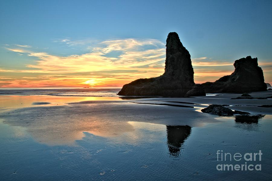 Bandon Oregon Sunset Photograph