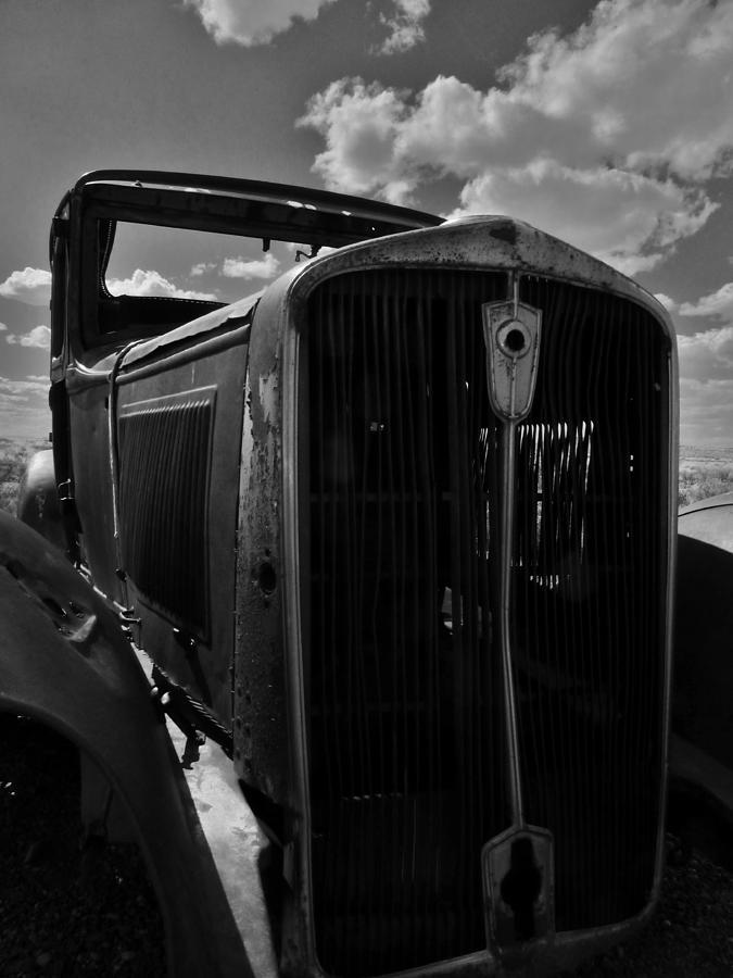 Bandw Rusty Route 66 Az Photograph