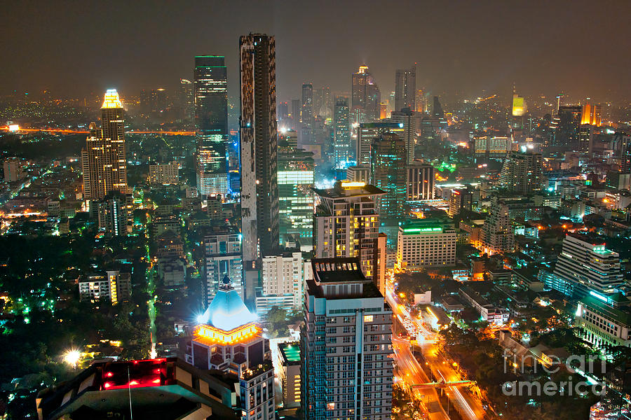 Bangkok Skyline Photograph By Luciano Mortula