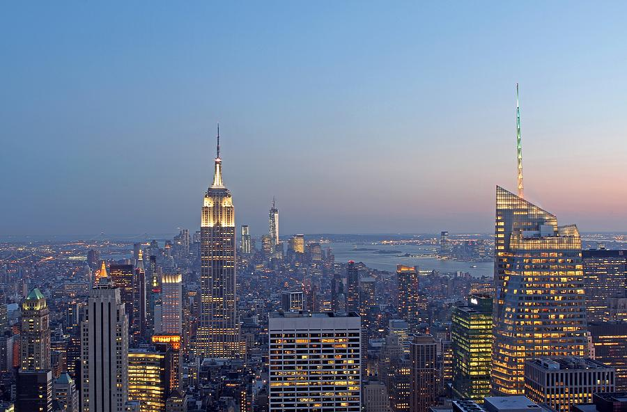 Bank Of America And Empire State Building Photograph