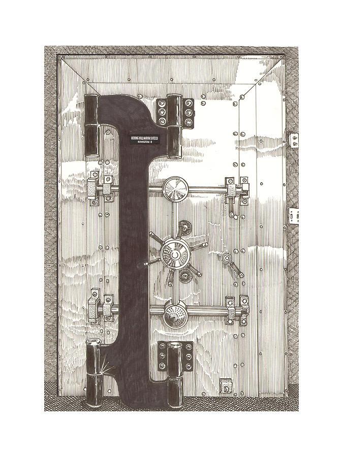 1903 Herring Hall Marvin Bank Vault Safe Co Drawing