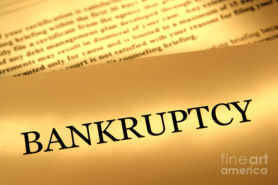 Bankruptcy Photograph - Bankruptcy Notice by Olivier Le Queinec
