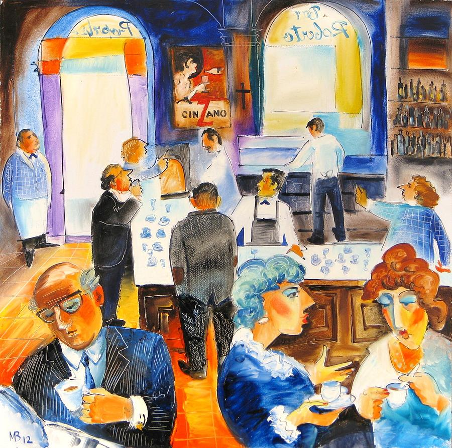 Rome Painting - Bar Roberto In Rome by Mikhail Zarovny