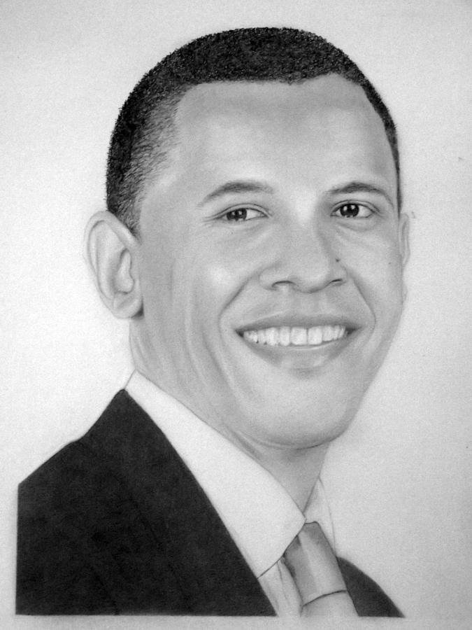 Barack Drawing  - Barack Fine Art Print