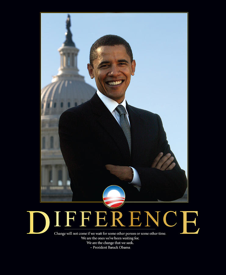 Barack Obama Difference Photograph