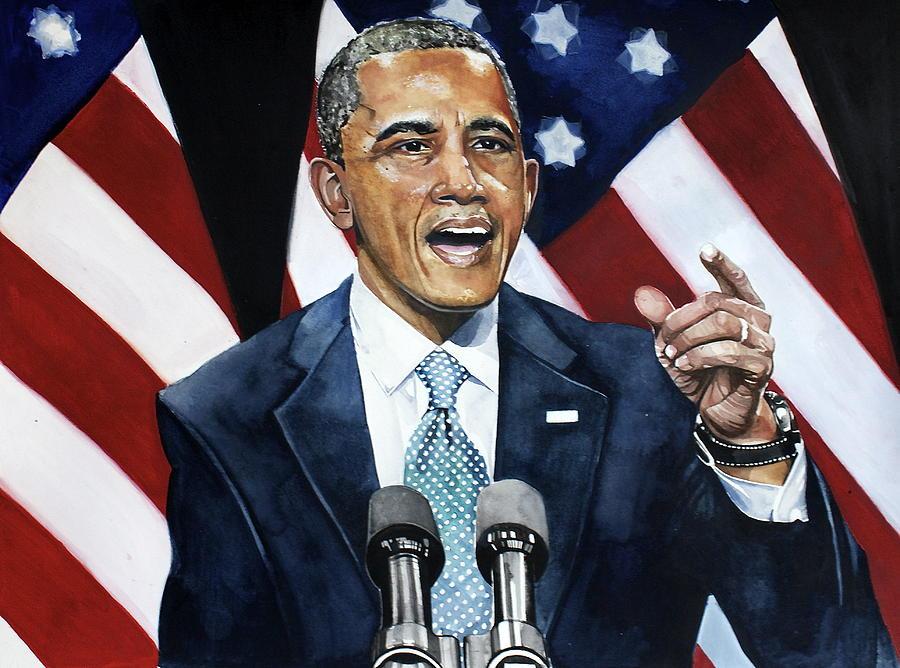 Barack Obama Painting - Barack Obama  by Michael  Pattison