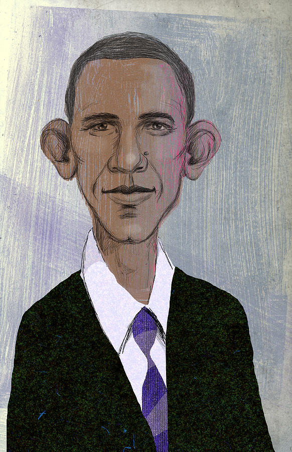 Barack Obama Drawing  - Barack Obama Fine Art Print