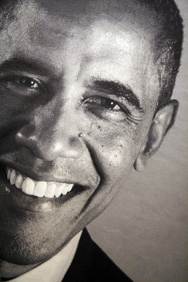 Barack Obama Up Close Photograph