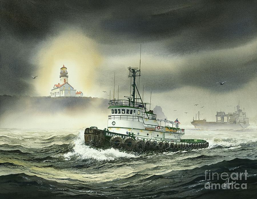 Tugs Painting - Barbara Foss by James Williamson