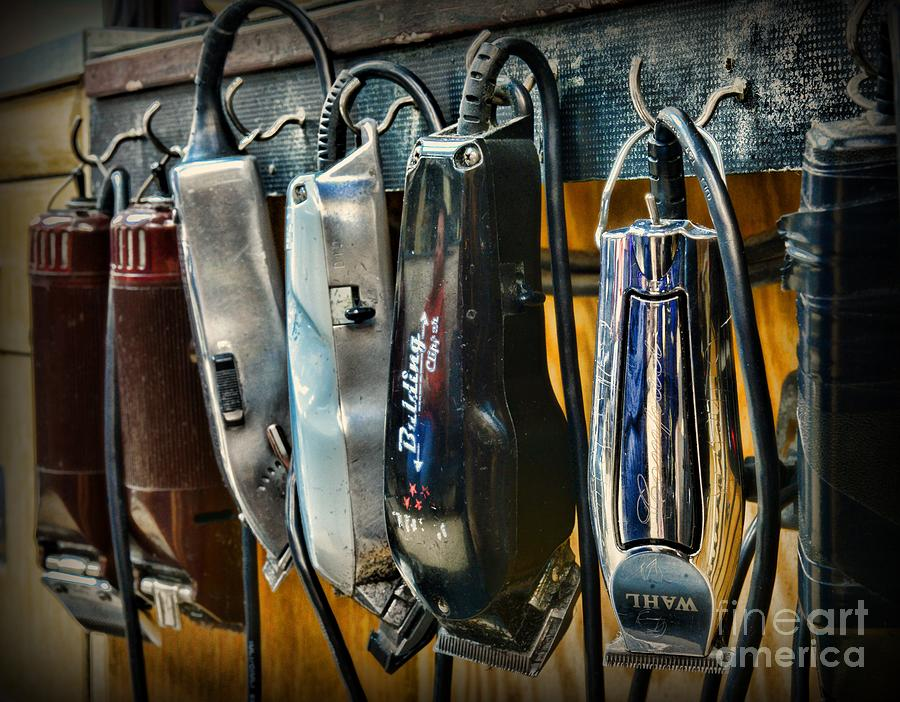 Barber Art : Vintage Barber Photograph - Barber - Hair Clippers by Paul Ward