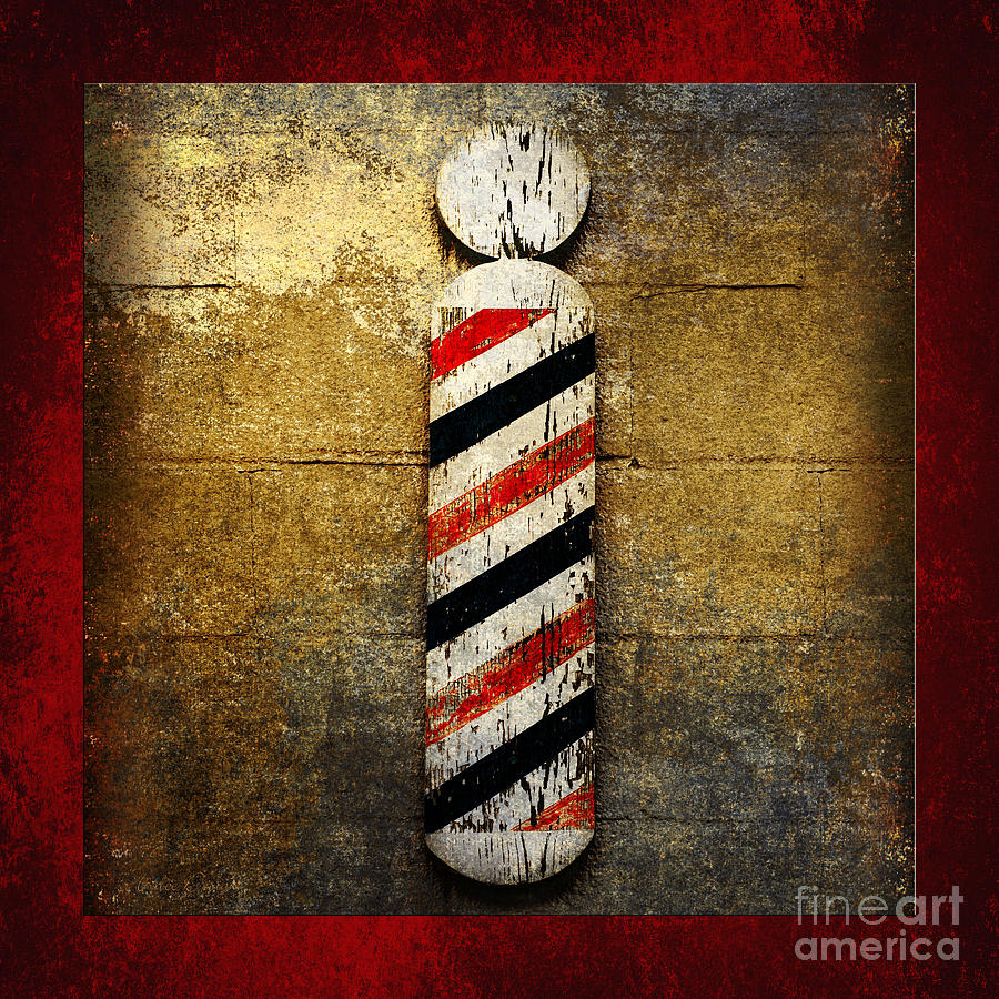 Barber Pole Photograph - Barber Pole Square by Andee Design