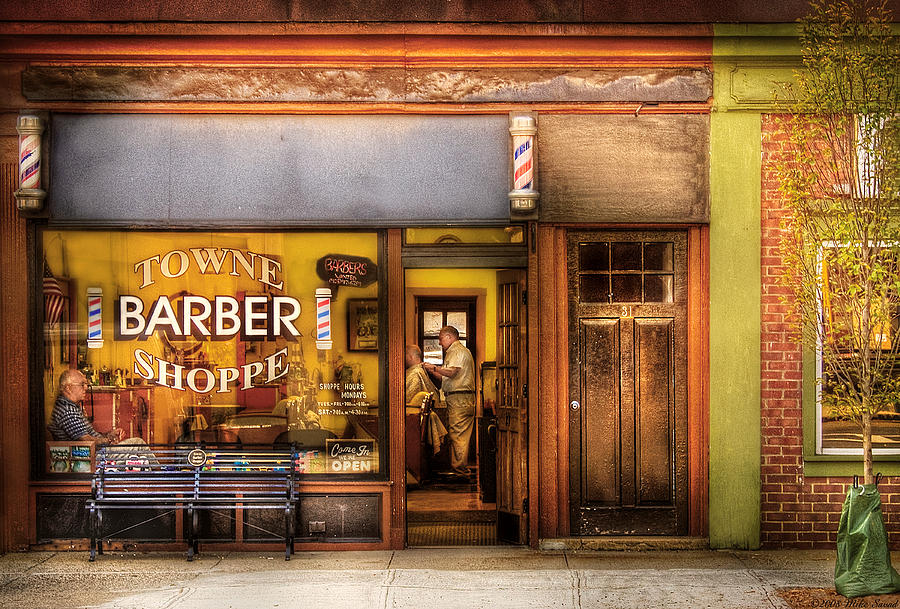 Barber - Towne Barber Shop Photograph  - Barber - Towne Barber Shop Fine Art Print