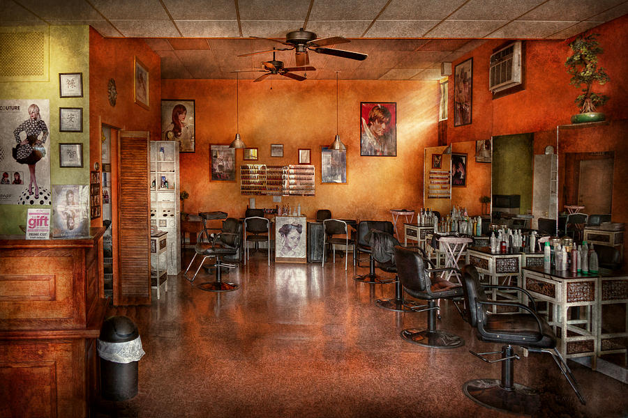 Barber - Union Nj - The Modern Salon  Photograph  - Barber - Union Nj - The Modern Salon  Fine Art Print