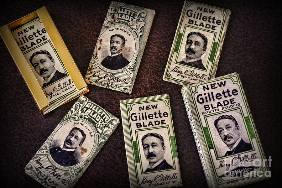 Paul Ward Photograph - Barber - Vintage Gillette Razor Blades by Paul Ward