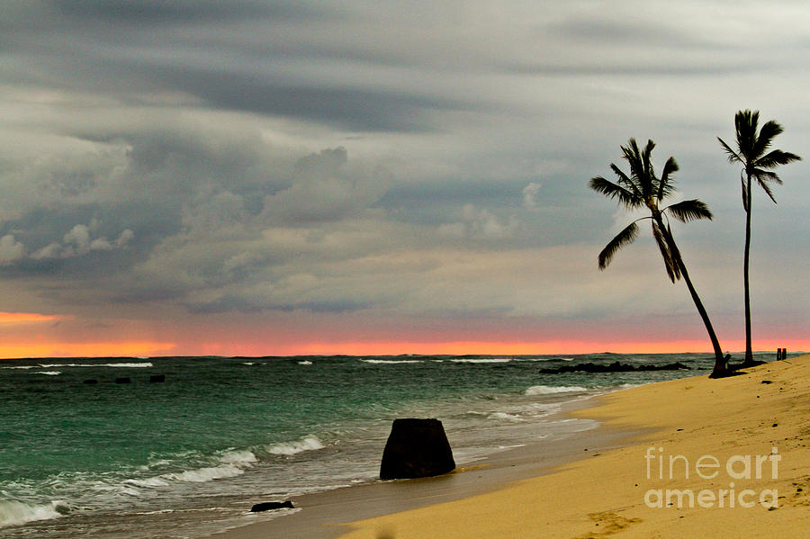 Landscape Photograph - Barbers Point Sunset by Terry Cotton