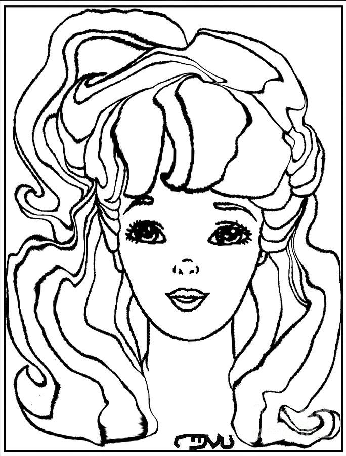 People Drawing - Barbie Doll Bd0000000001 by Pemaro