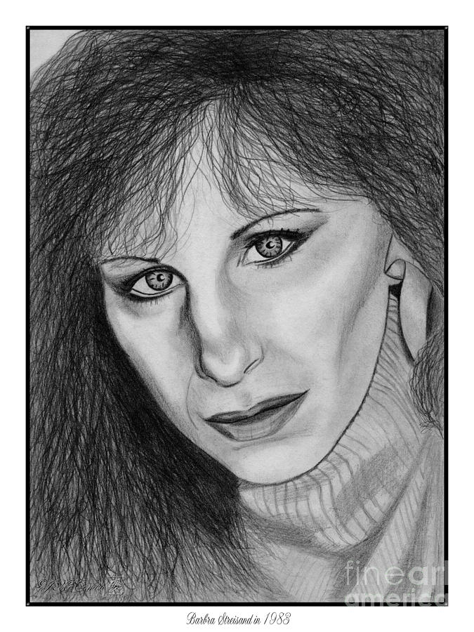 Barbra Streisand In 1983 Drawing  - Barbra Streisand In 1983 Fine Art Print