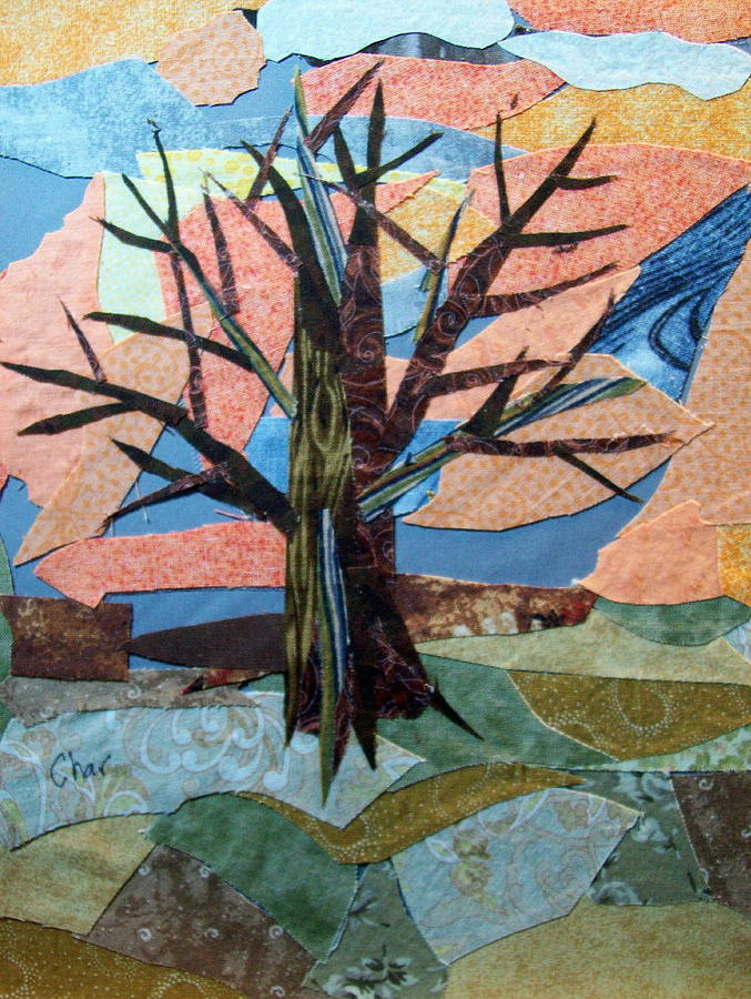 Bare Branches At Dusk Tapestry - Textile