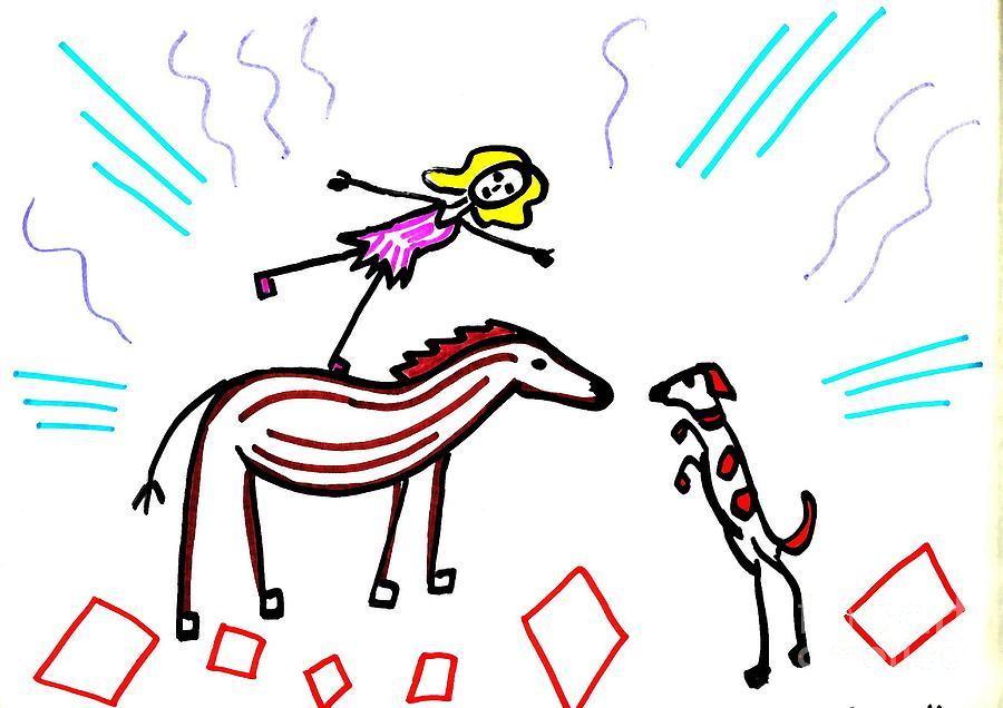 Bareback Rider Drawing