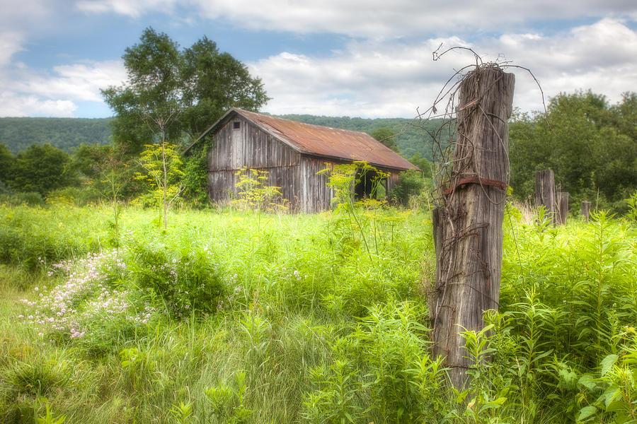 Old Barn Near Stryker Rd. Rustic Landscape Photograph