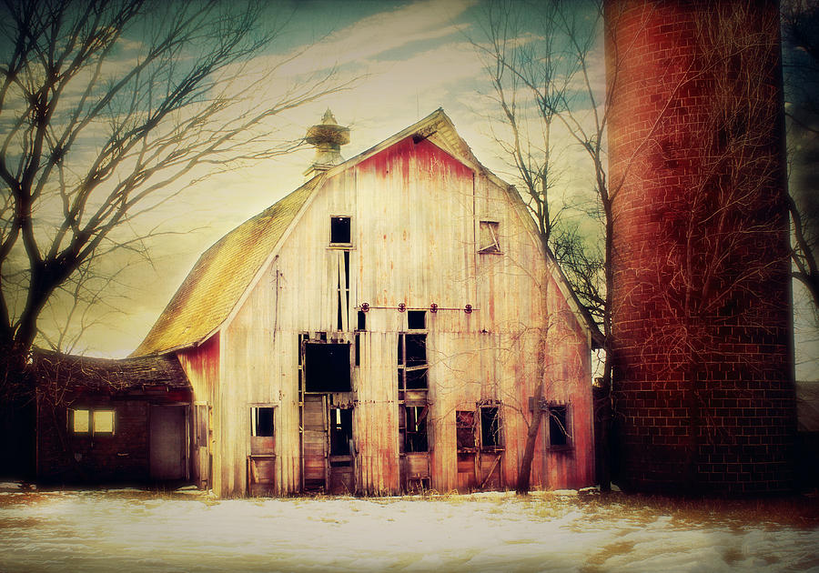 Barn And Silo Photograph  - Barn And Silo Fine Art Print