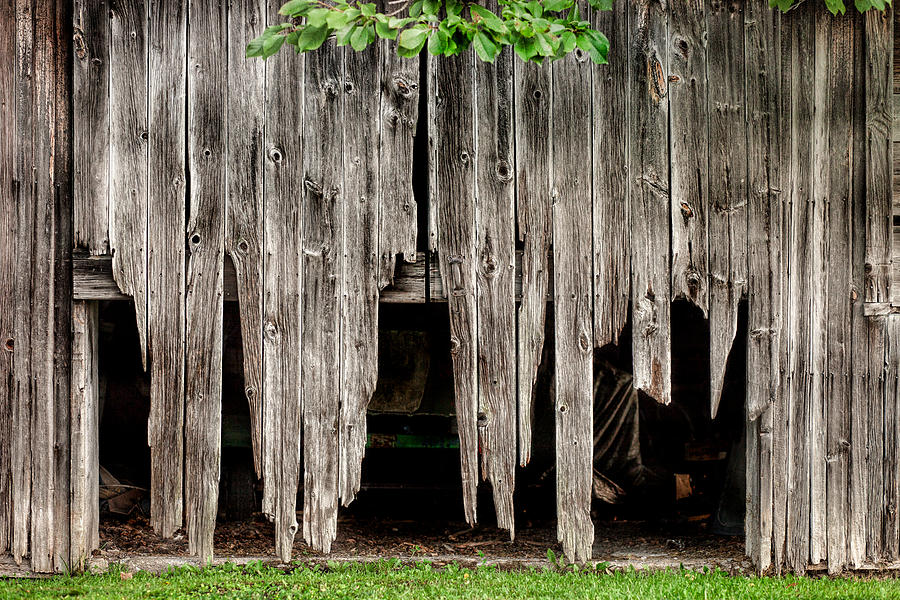 Barns Photograph - Barn Boards - Rustic Decor by Gary Heller