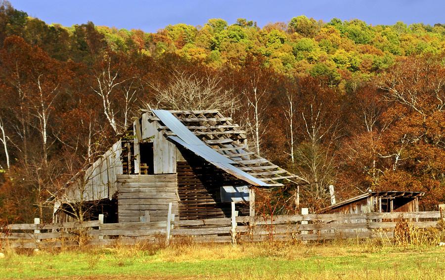 Barn In Fall Photograph