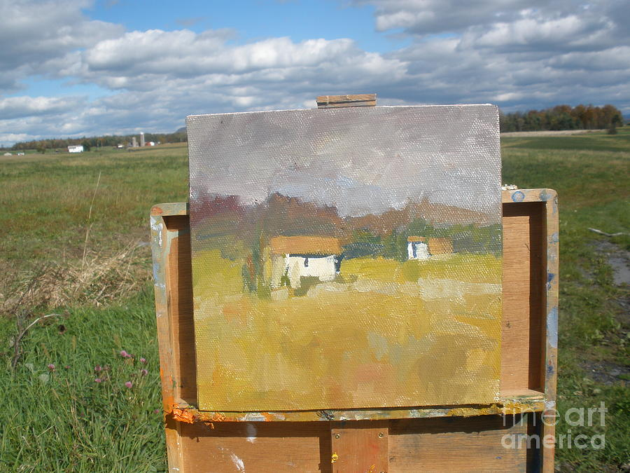 Barn In Vermont Painting