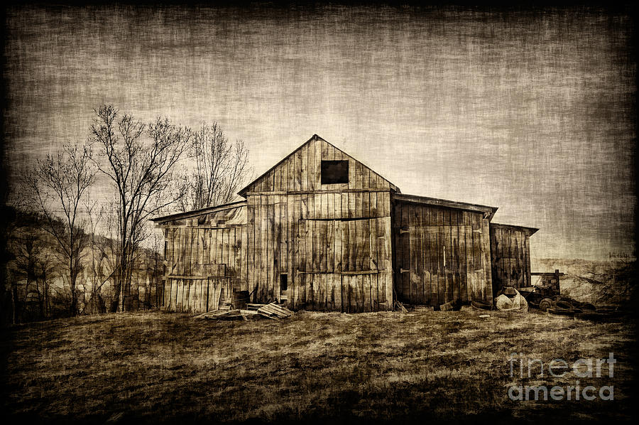 Barn On Farm Photograph